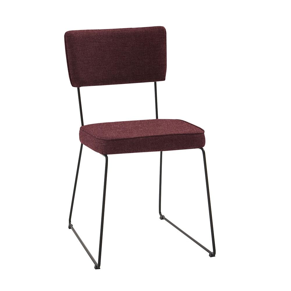 Cadeira Estofada Roma F53 Marsala