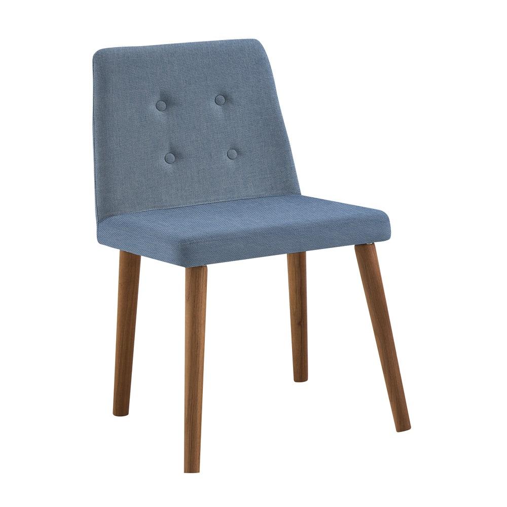 Cadeira Estofada Vega F57 Azul Jeans