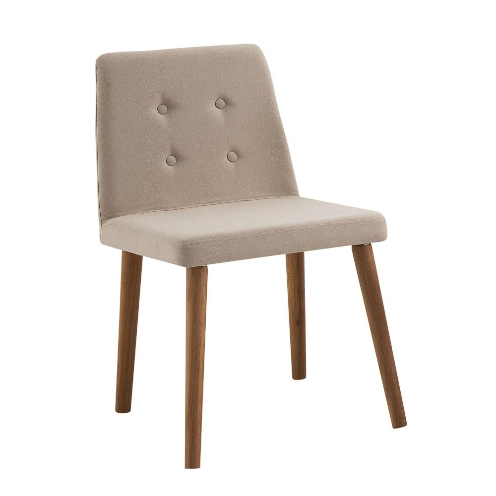 Cadeira Estofada Vega F57 Bege