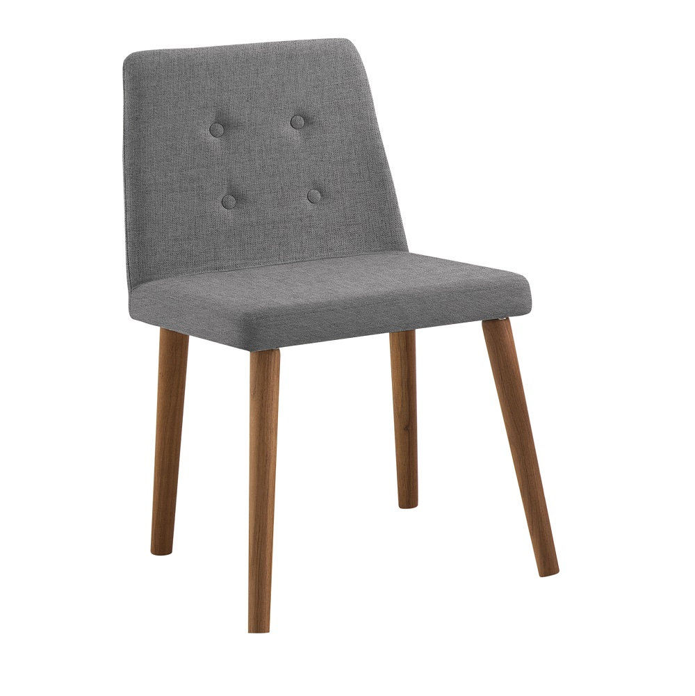 Cadeira Estofada Vega F57 Cinza