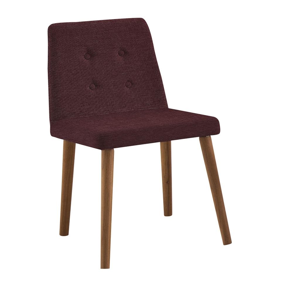Cadeira Estofada Vega F57 Marsala