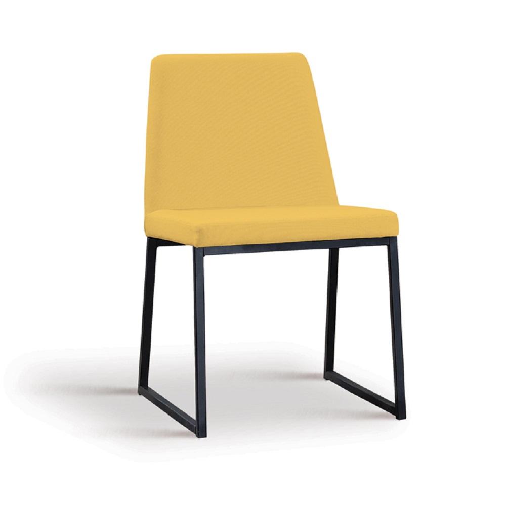 Cadeira Estofada Yanka F37 Amarelo