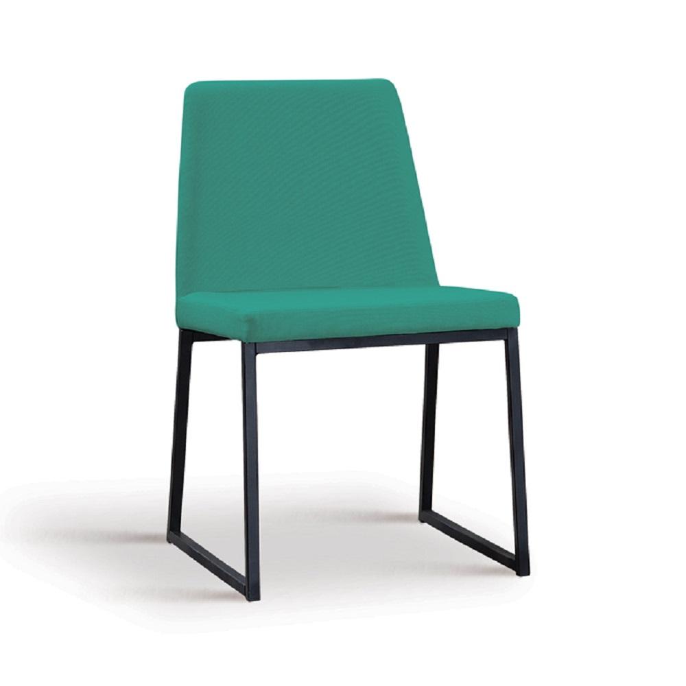 Cadeira Estofada Yanka F37 Azul Esverdeado