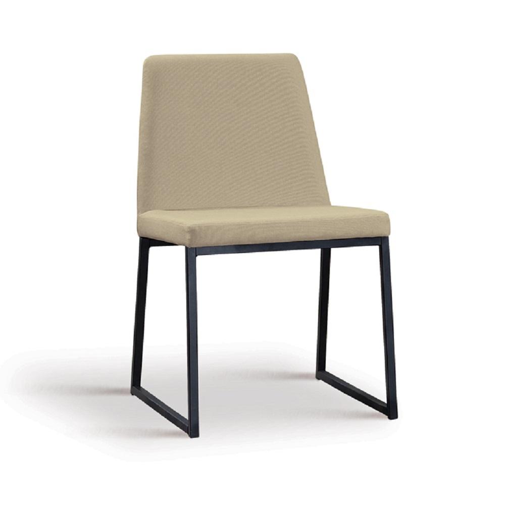 Cadeira Estofada Yanka F37 Bege