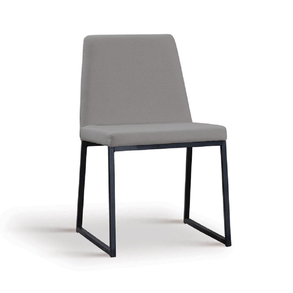 Cadeira Estofada Yanka F37 Cinza