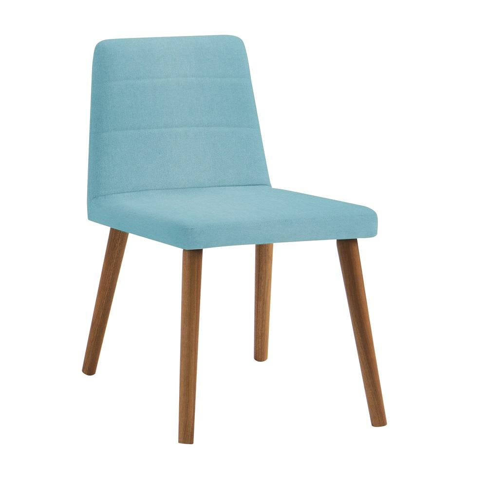 Cadeira Estofada Yasmin F58 Azul Turquesa