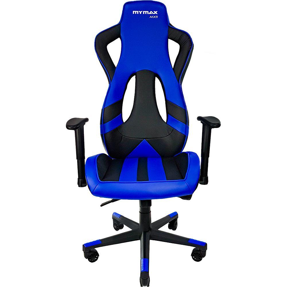 Cadeira Gamer MX11 Giratória 9216 Preto e Azul