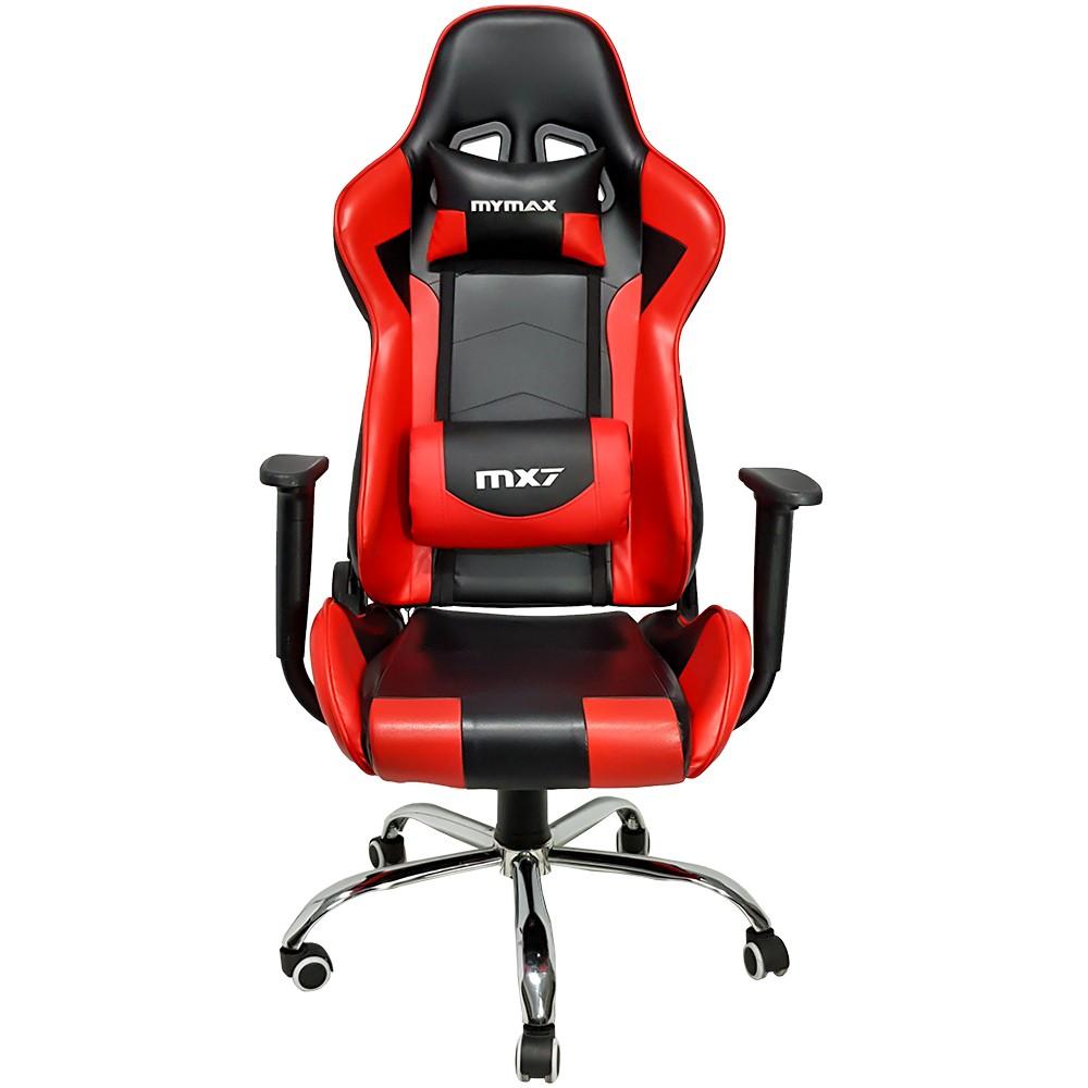 Cadeira Gamer MX7 8788 Giratoria Preto/Vermelho