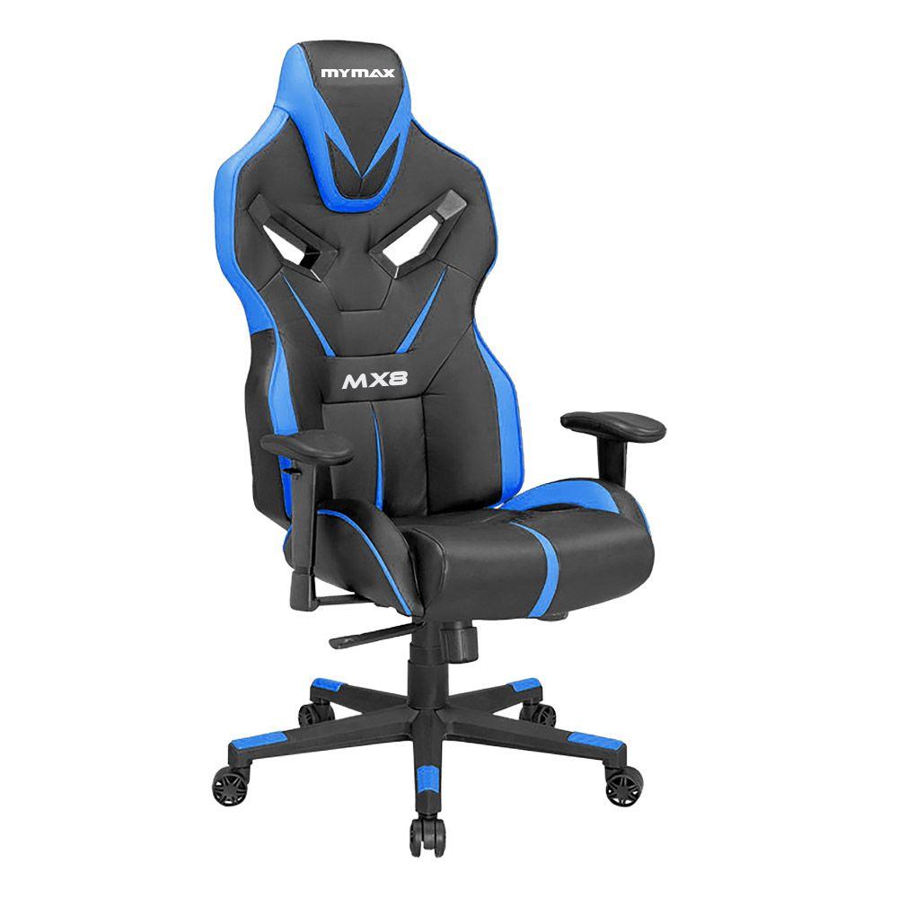 Cadeira Gamer MX8 Giratoria 9064 Preto/Azul