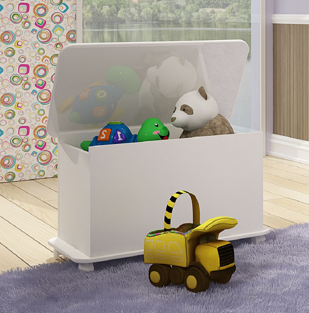 Caixa de Brinquedos com Tampa BB 710 Branco