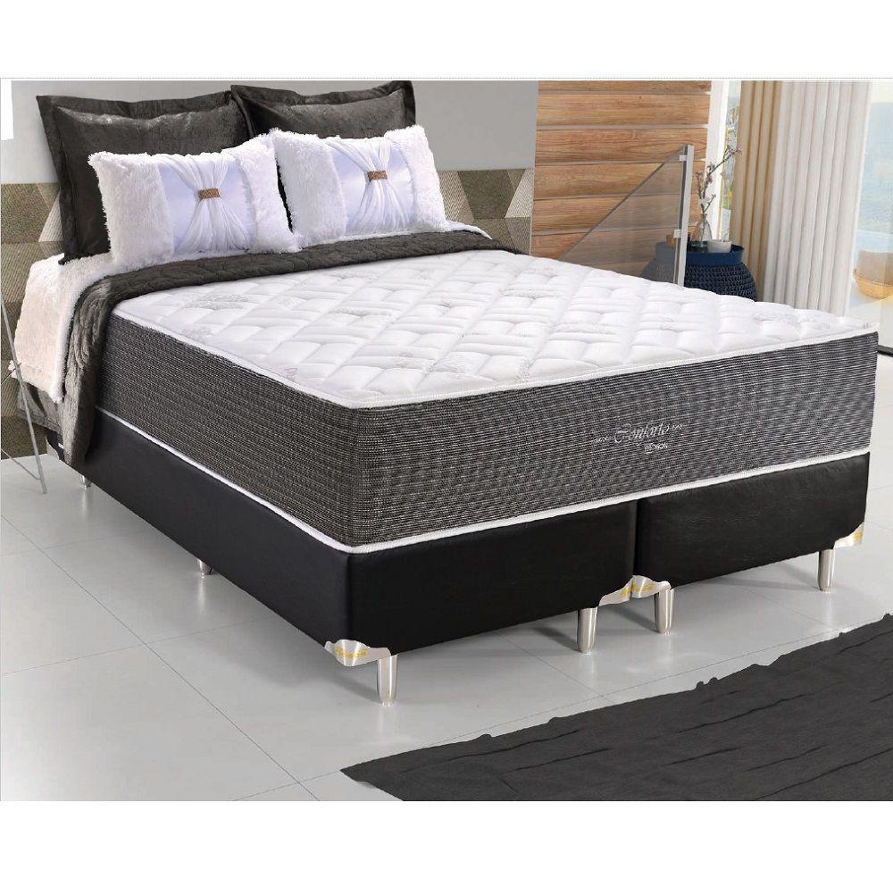 Cama Box Queen Size com Base e Colchão 198x158 cm Conforto Probon