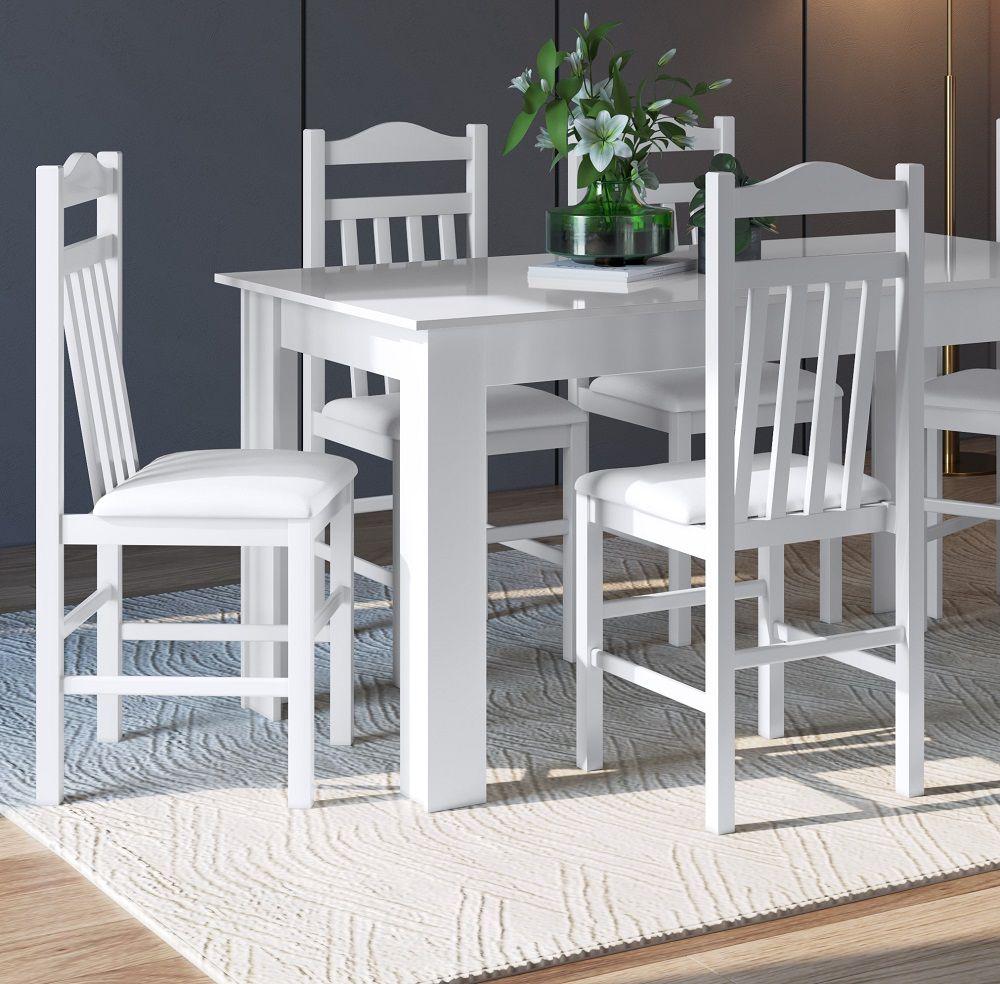 Conjunto com Mesa e 4 Cadeiras 11400 Branco