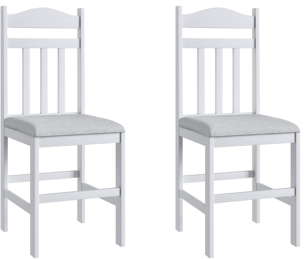 Conjunto de 2 Cadeiras 200 Móveis Canção Branco