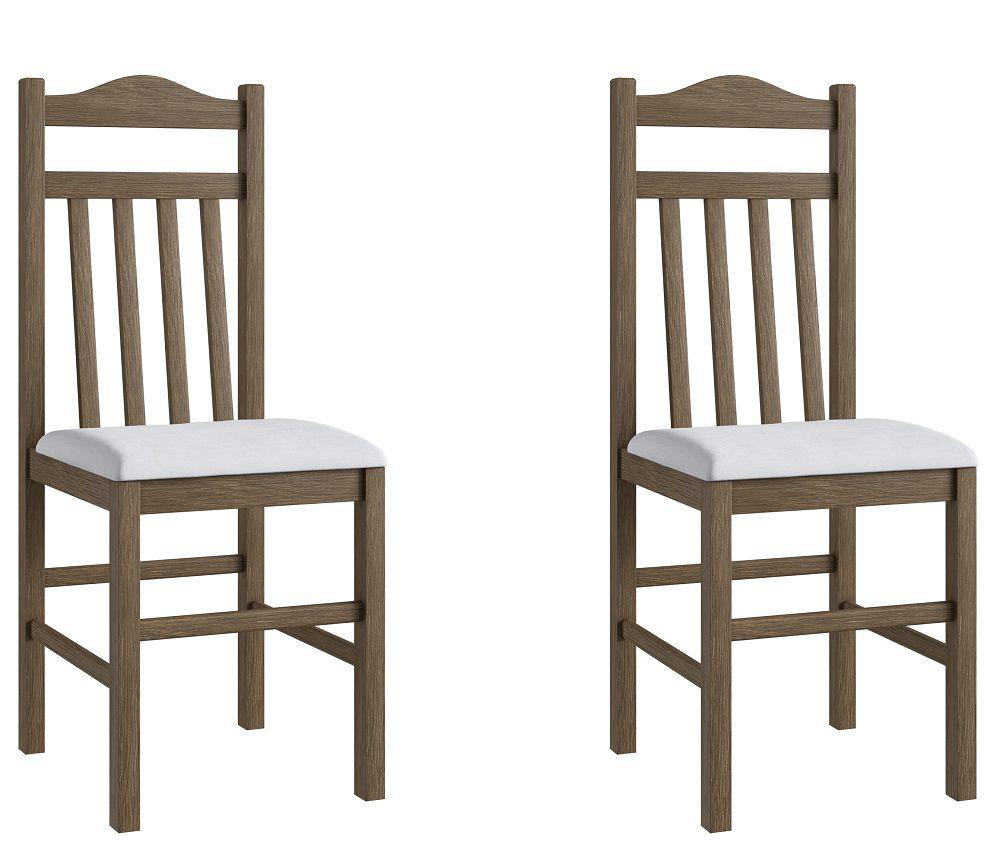 Conjunto de 2 Cadeiras 300 Móveis Canção Ameixa Negra e Branco
