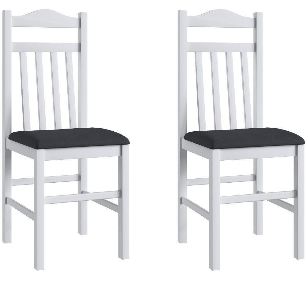 Conjunto de 2 Cadeiras 300 Móveis Canção Preto e  Branco