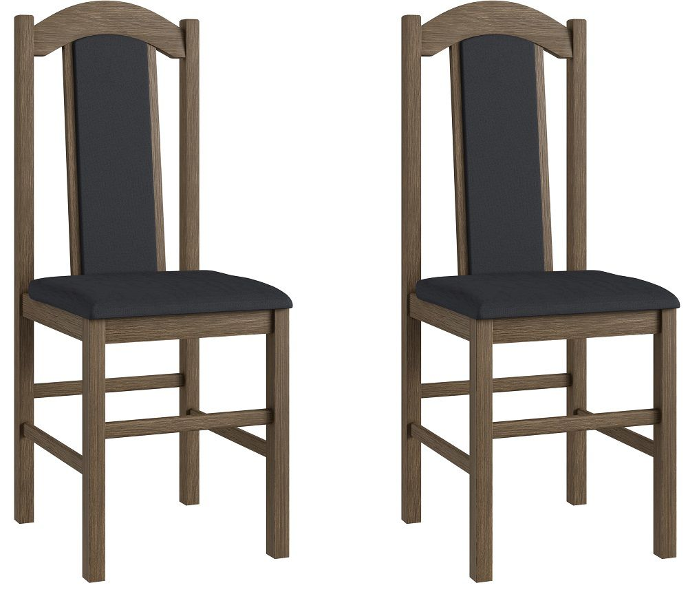 Conjunto de 2 Cadeiras 500 Móveis Canção Ameixa Negra e Preto