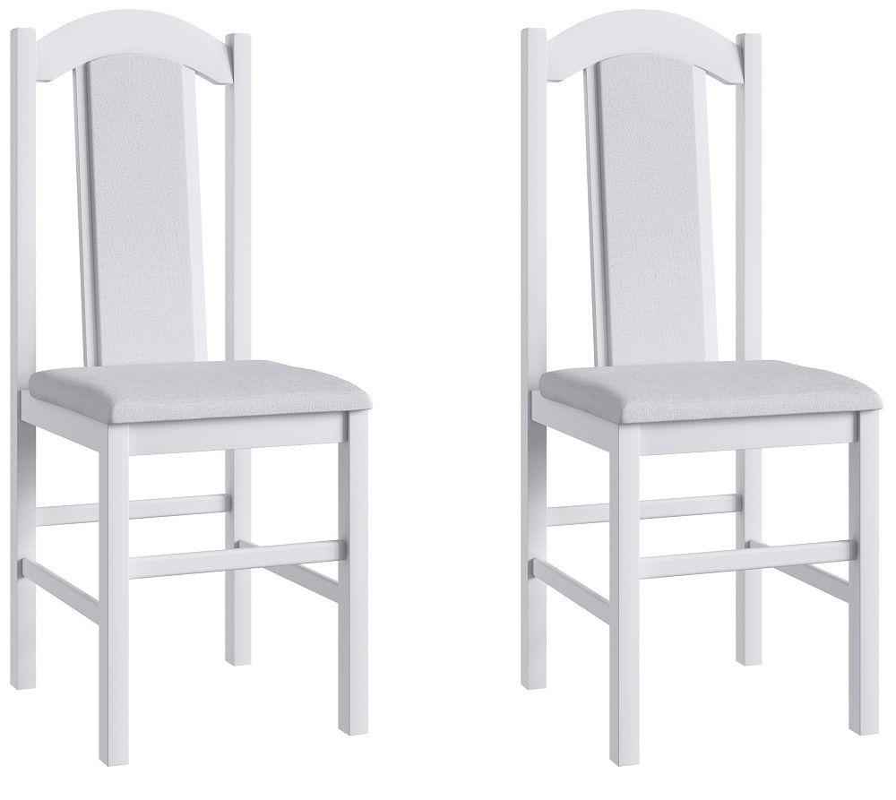 Conjunto de 2 Cadeiras 500 Móveis Canção Branco