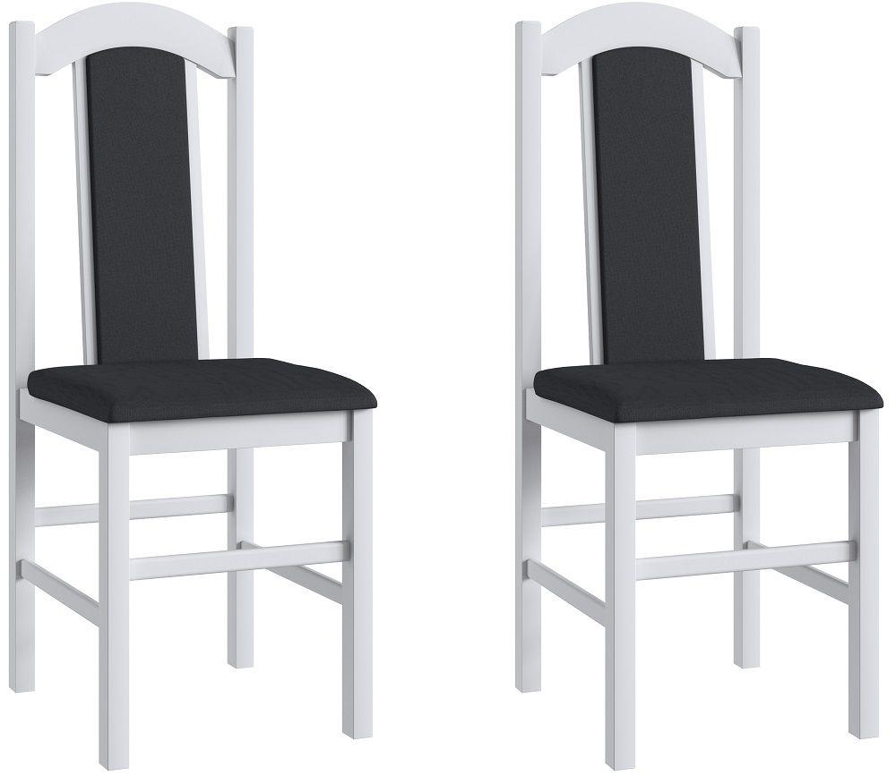 Conjunto de 2 Cadeiras 500 Móveis Canção Preto e Branco