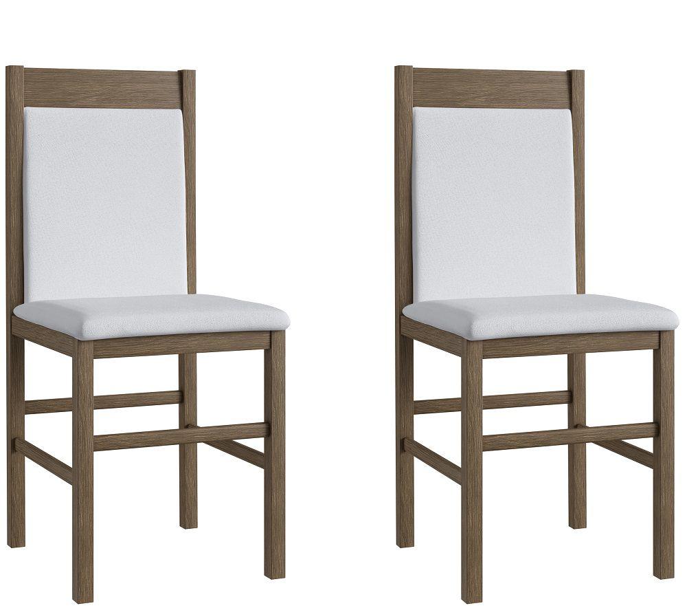 Conjunto de 2 Cadeiras 600 Móveis Canção Ameixa Negra e Branco