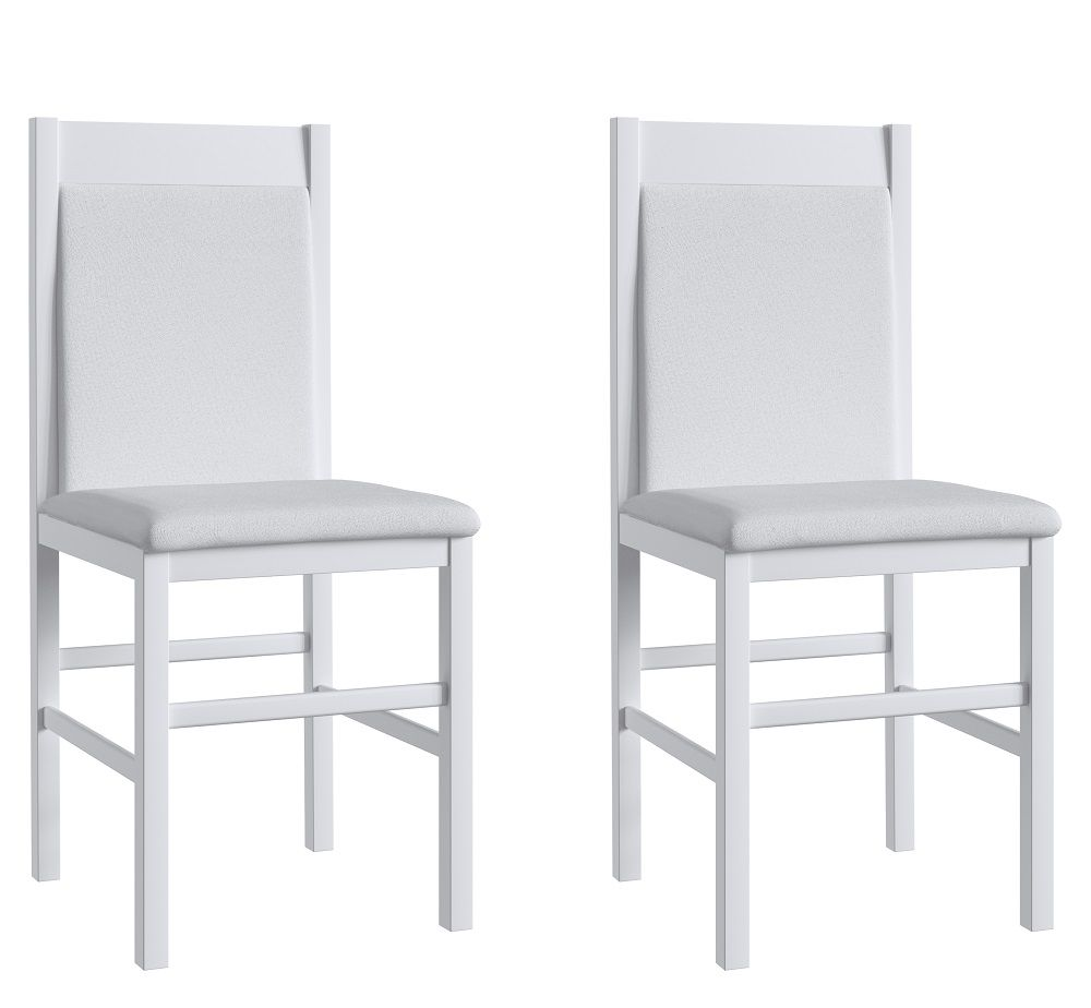 Conjunto de 2 Cadeiras 600 Móveis Canção Branco