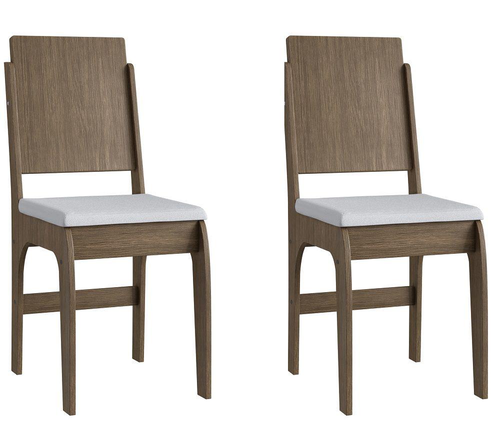 Conjunto de 2 Cadeiras 916 Móveis Canção Ameixa Negra e Branco