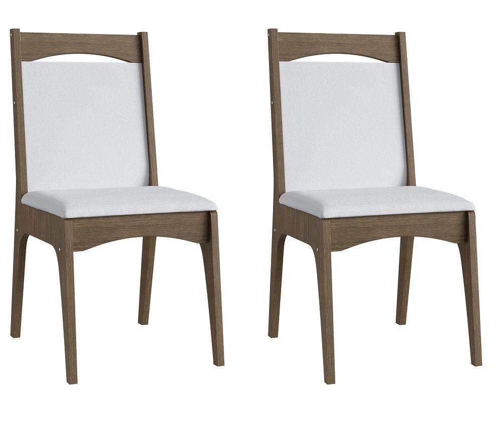 Conjunto de 2 Cadeiras Estofadas 917 Móveis Canção Ameixa Negra e Branco