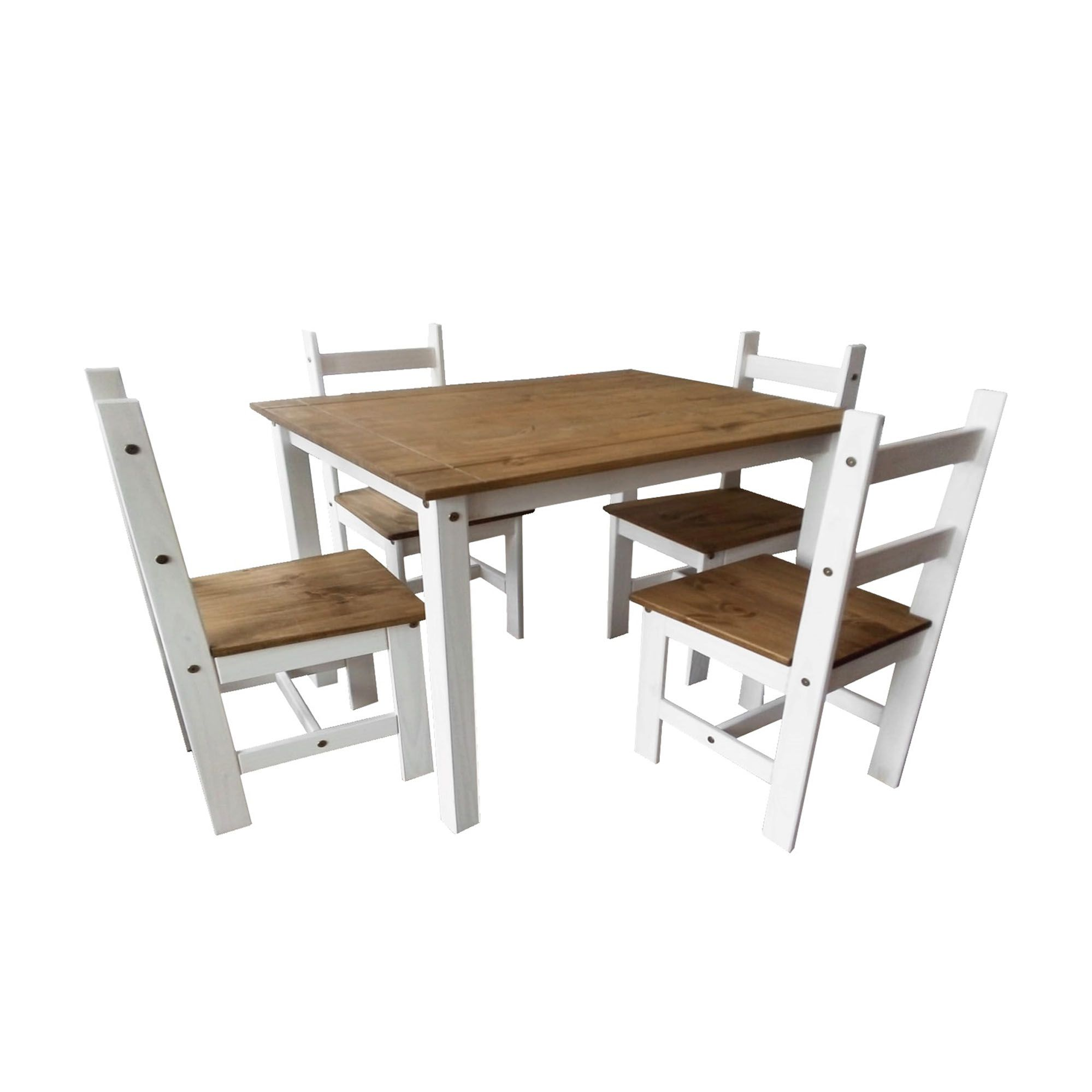 Conjunto Sala de Jantar Joana 1000 Casa da Serra Cera Branco