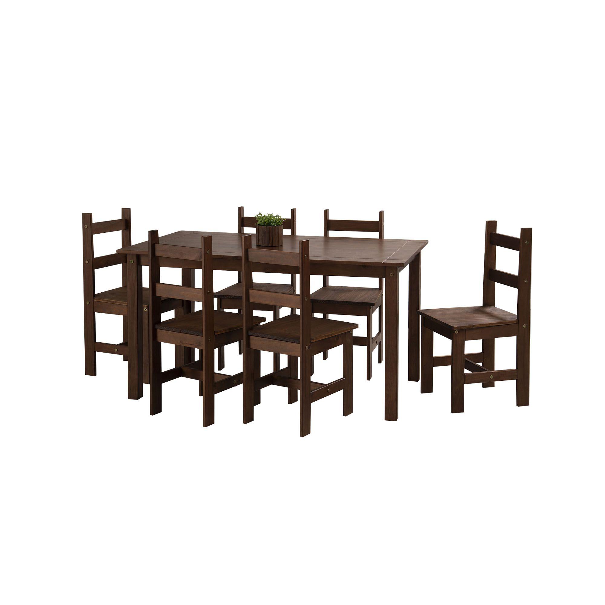 Conjunto Sala de Jantar Joana 1400 Casa da Serra Cera Carvalho
