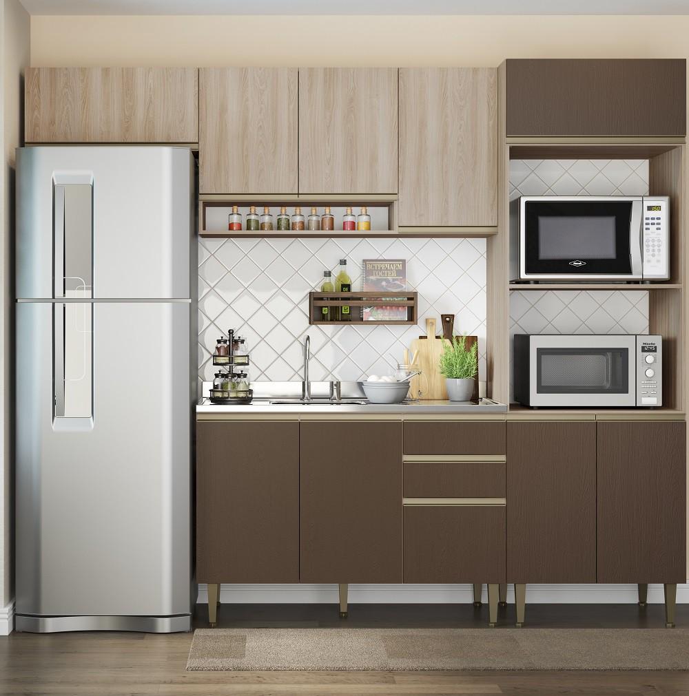 Cozinha compacta com 4 Peças 1 Porta Basculante Cook 9002 Aveiro e Oxid