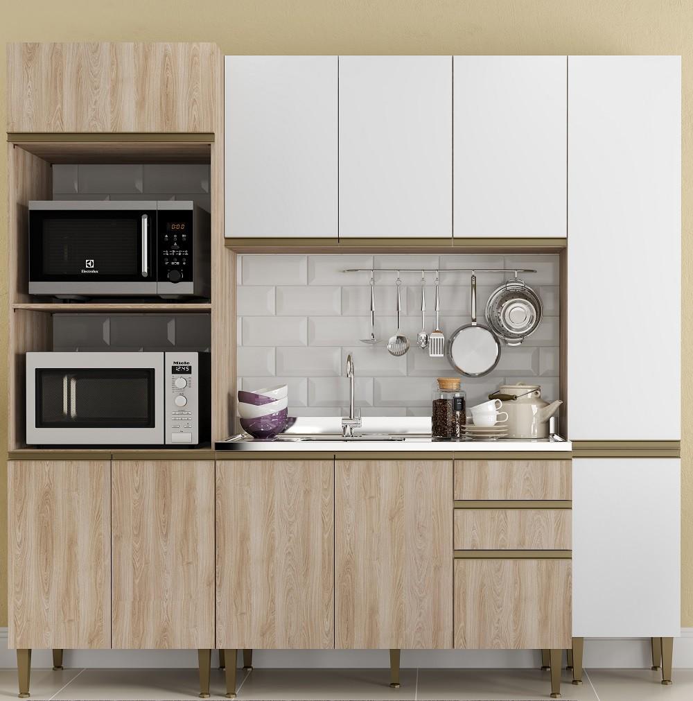 Cozinha Compacta com 4 Peças Cook 9001 Aveiro e Branco