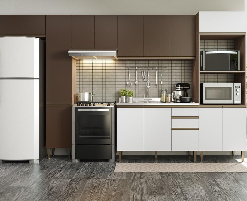 Cozinha Compacta com 6 Peças Cook 9003 Aveiro Oxid e Branco