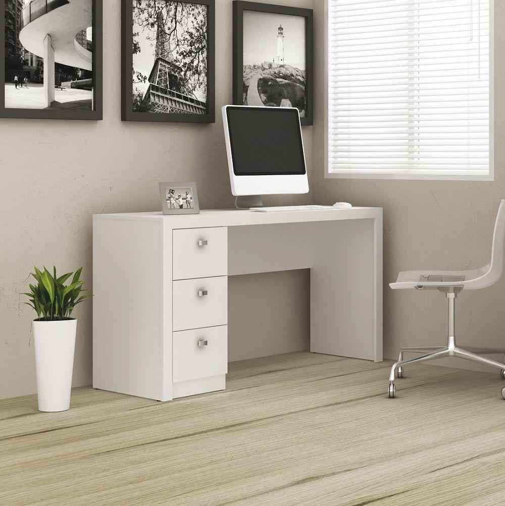 Escrivaninha com 3 Gavetas ME4102 Tecno Mobili Branco