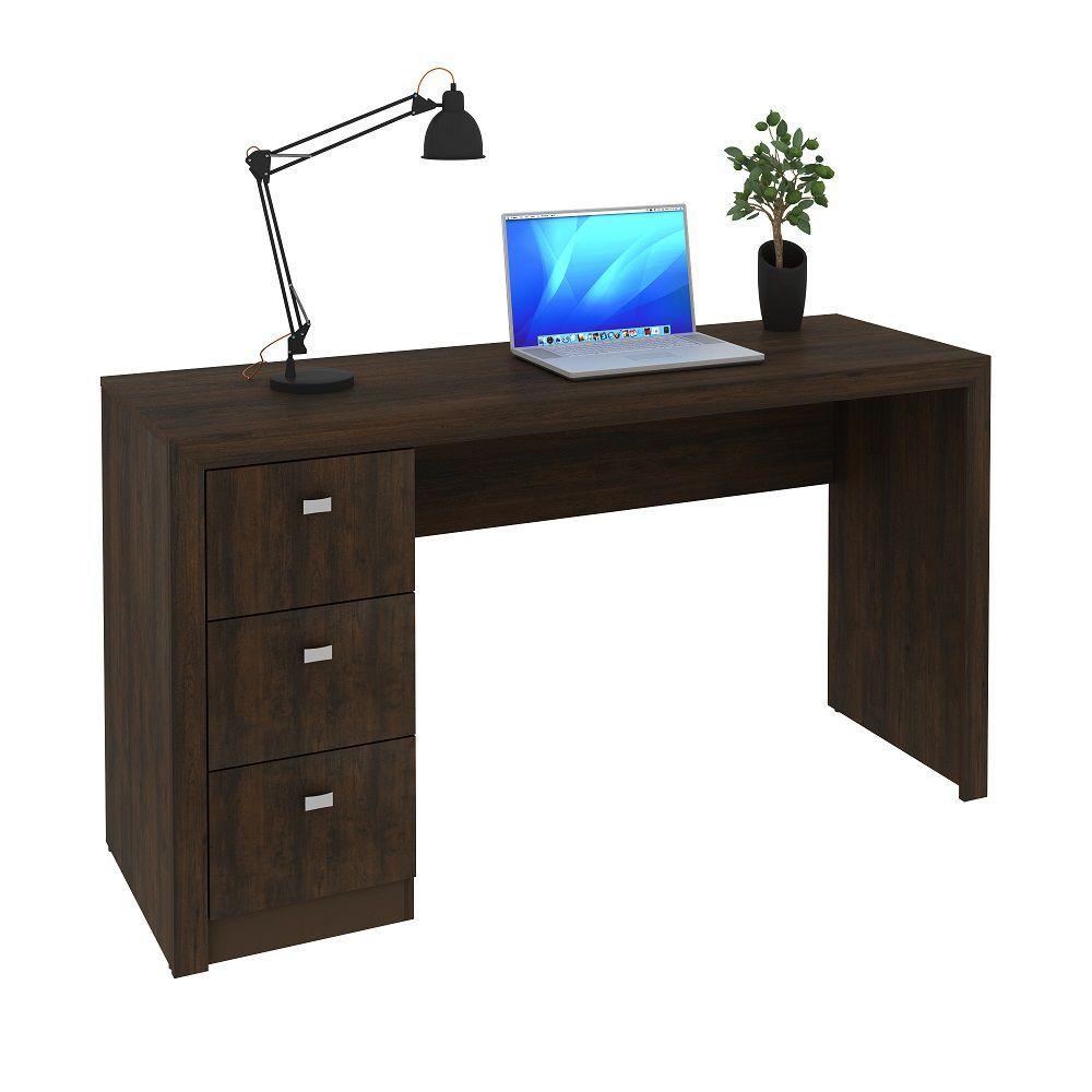 Escrivaninha com 3 Gavetas ME4102 Tecno Mobili Rústico