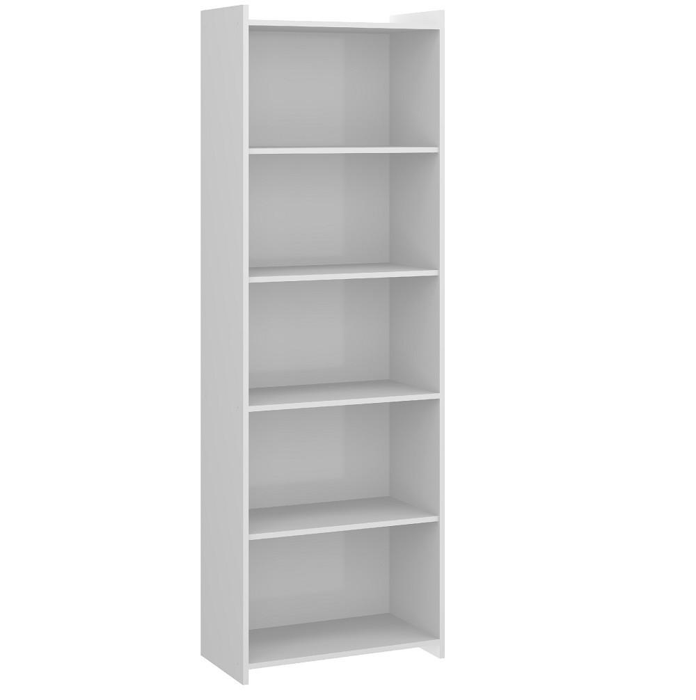 Estante Biblioteca com 04 Prateleiras 0700 Branco Soluzione