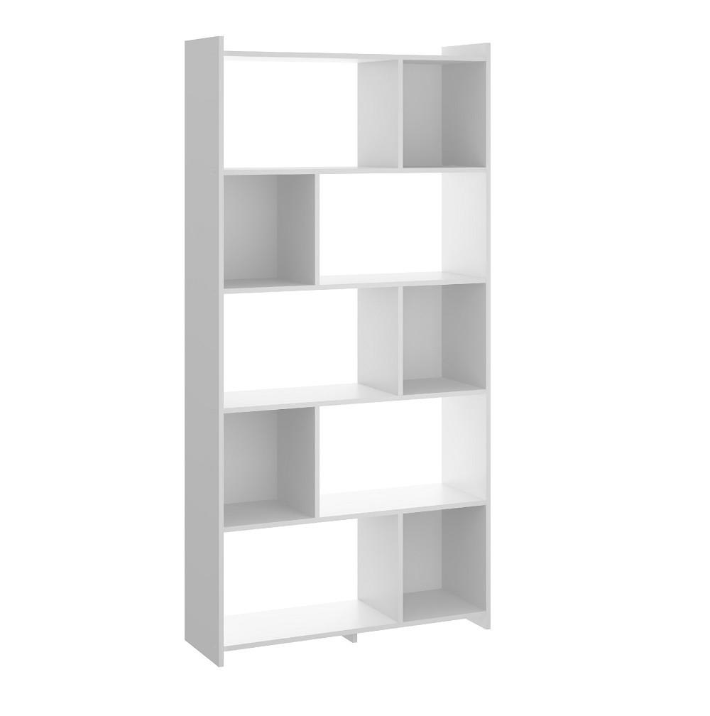 Estante Biblioteca com Prateleiras 0724  Branco Soluzione