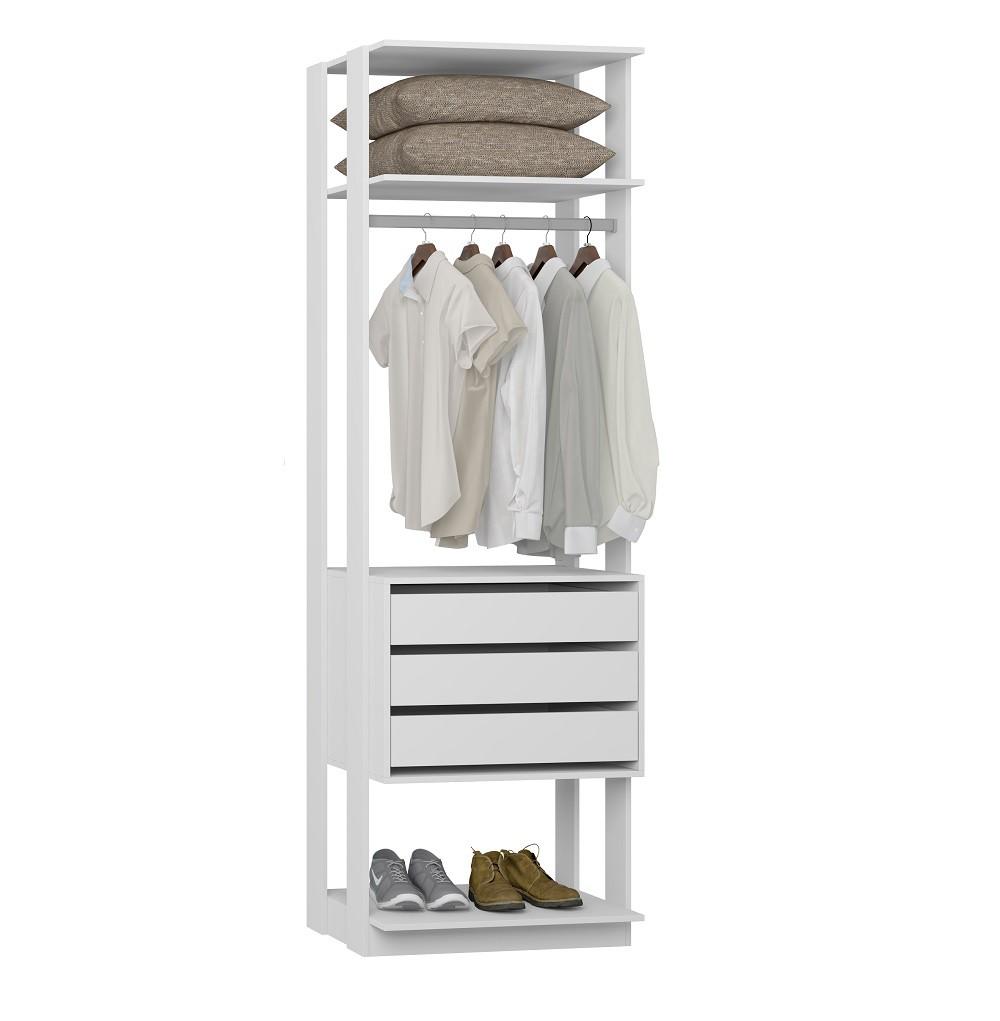 Estante com Gaveteiro Clothes 1004 Branco