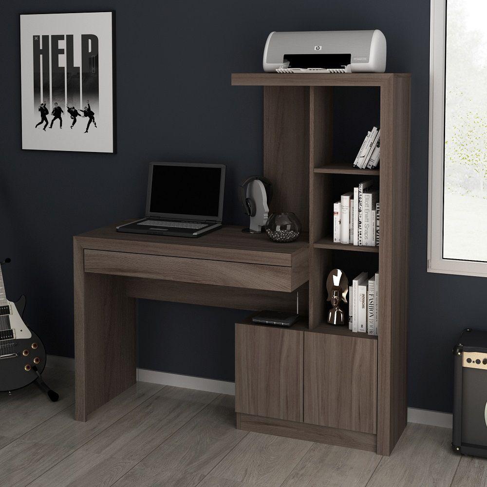 Estante Escrivaninha ME4143 Home Office Tecno Mobili Carvalho