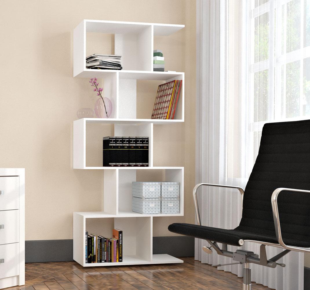 Estante Livreiro com 5 Nichos Office Plus Branco EST0202-10 Appunto