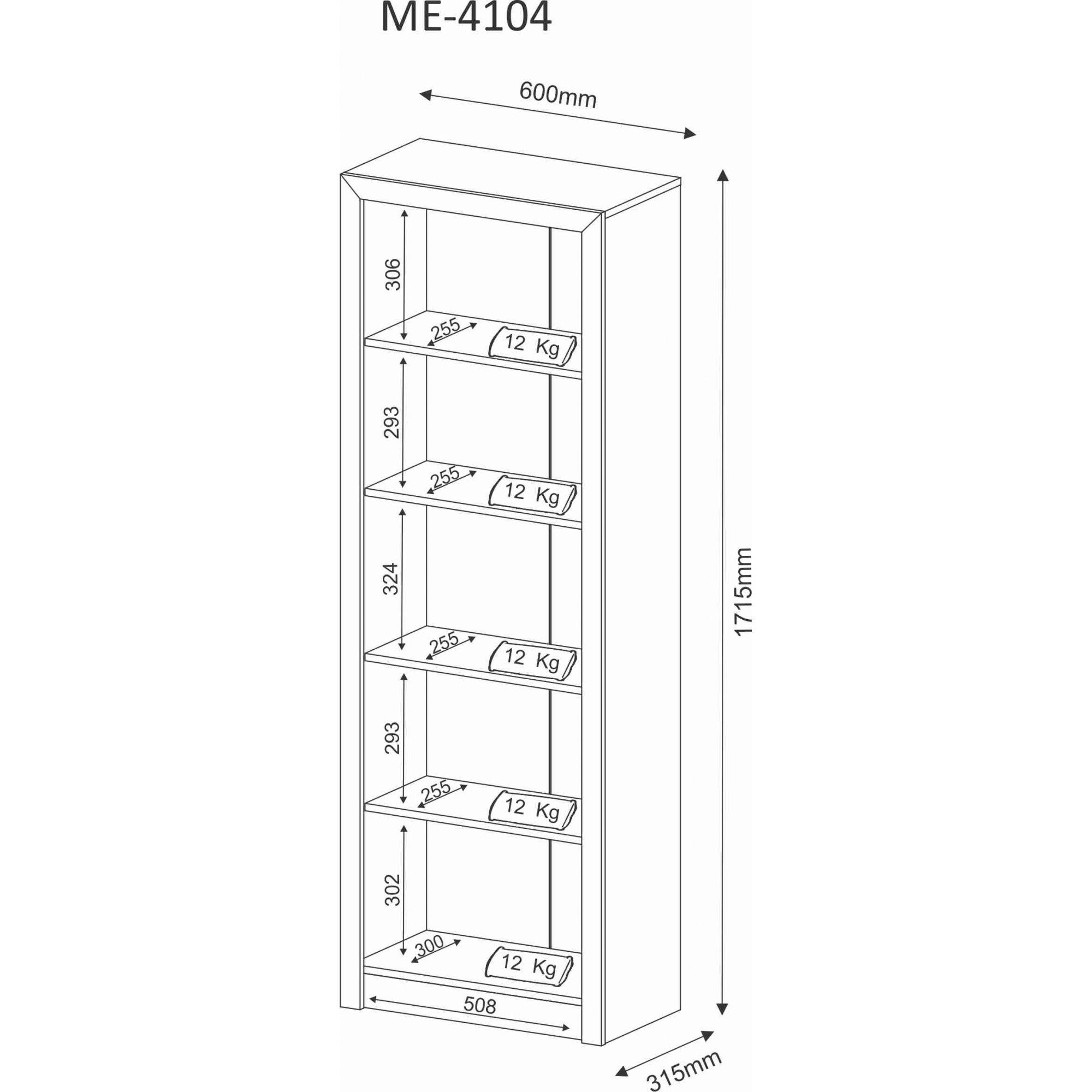 Estante Livreiro para Escritório ME4104 Tecno Mobili Branco  - Móveis Dallas