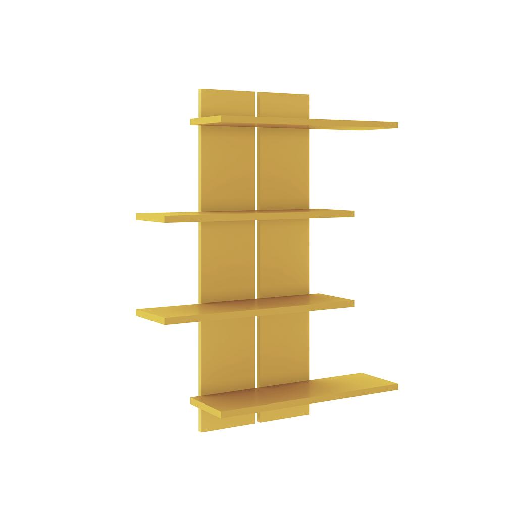Estante Nichos Decorativos 4 Prateleira AM 3118 Amarelo