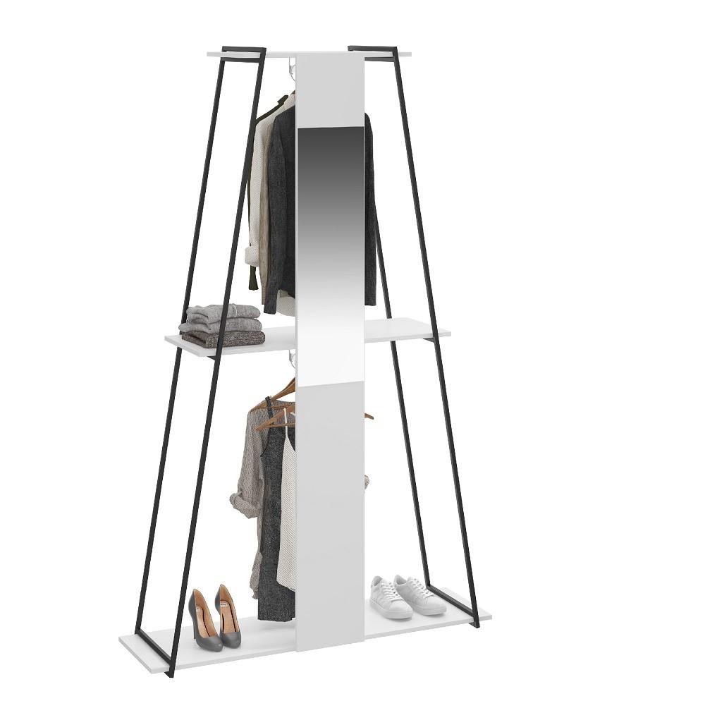 Guarda-Roupa Estante com Espelho Tog 1003 Branco