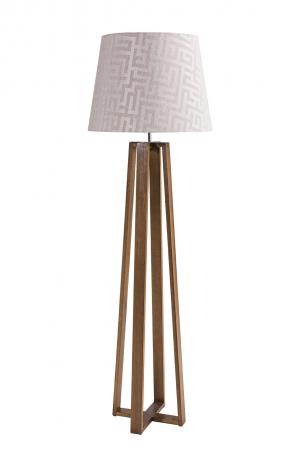 Luminária de Chão com Pernas de Madeira