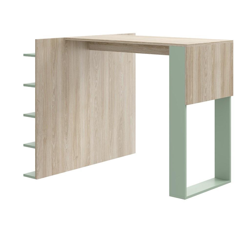 Mesa com Painel Multiuso para Banquetas Smart 1003 Aveiro e Verde