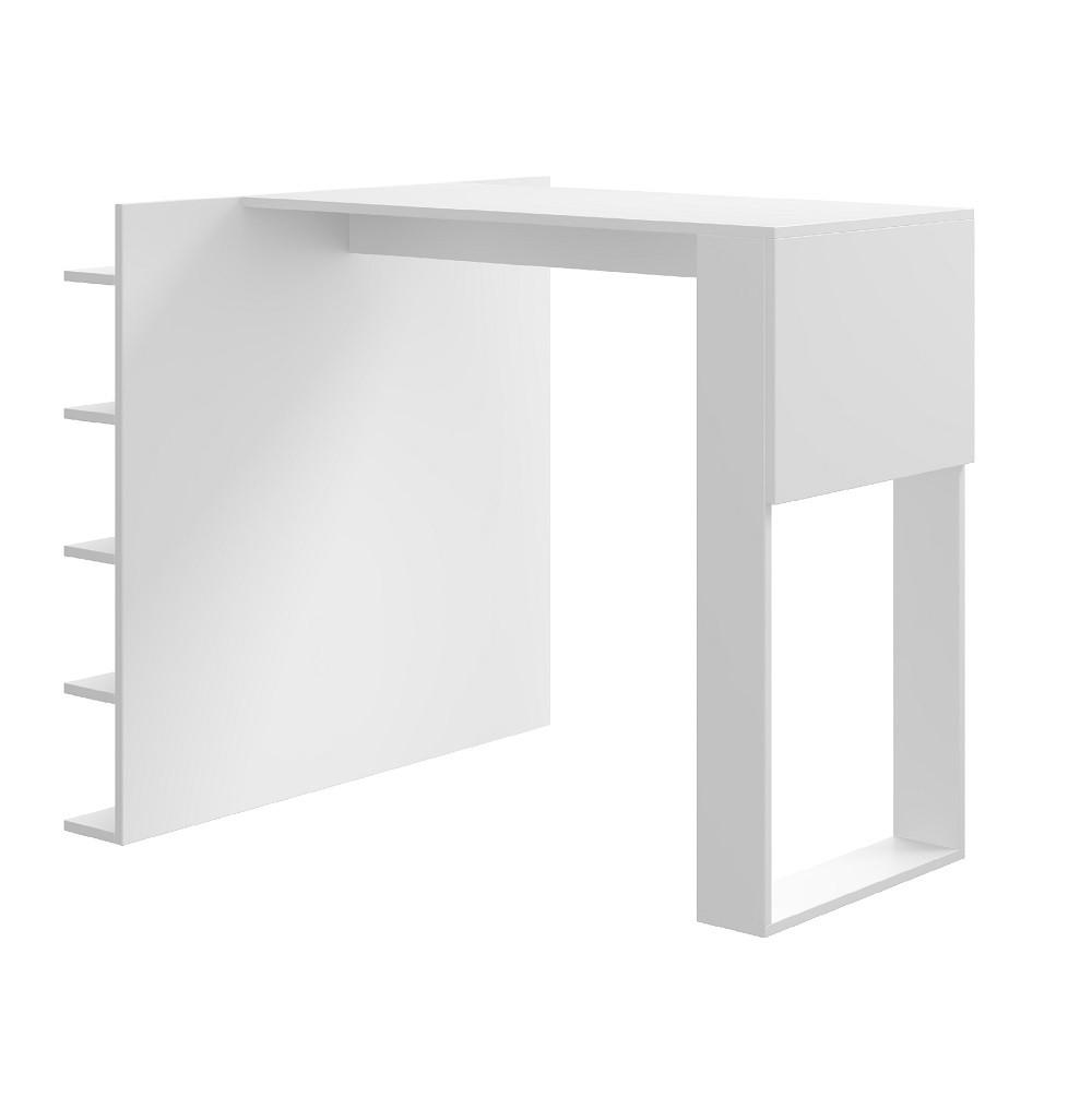 Mesa com Painel Multiuso para Banquetas Smart 1003 Branco