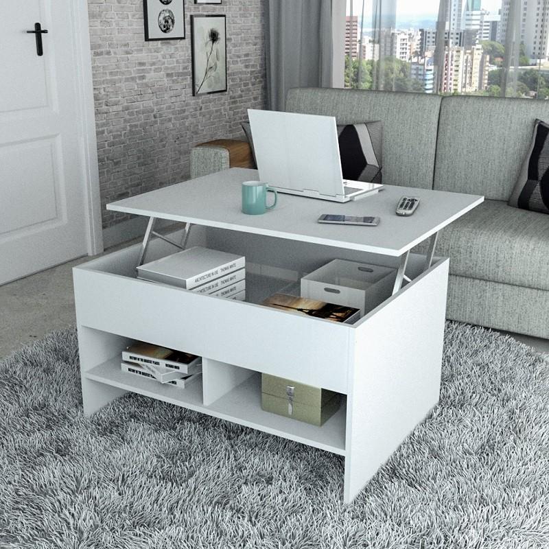 Mesa de Centro Articulada com Nichos Appunto Branco