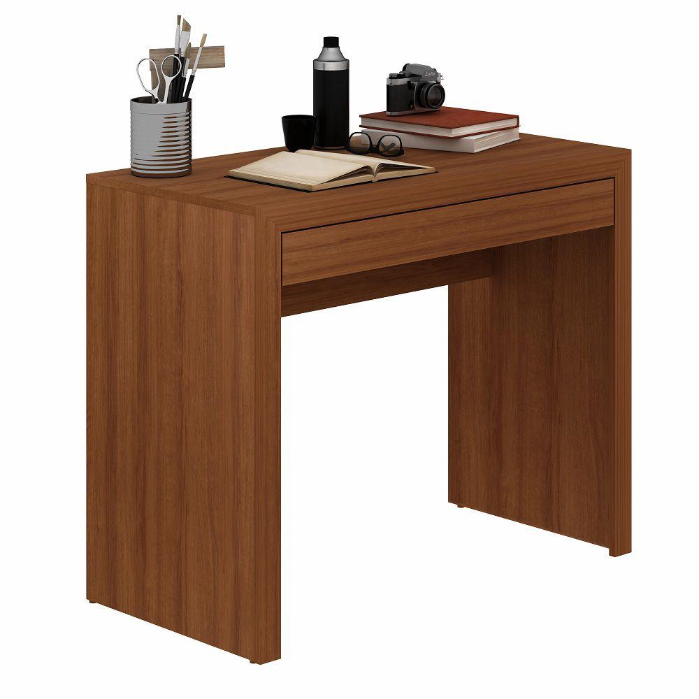 Mesa para Computador Escrivaninha ME4107 Tecno Mobili Amêndoa