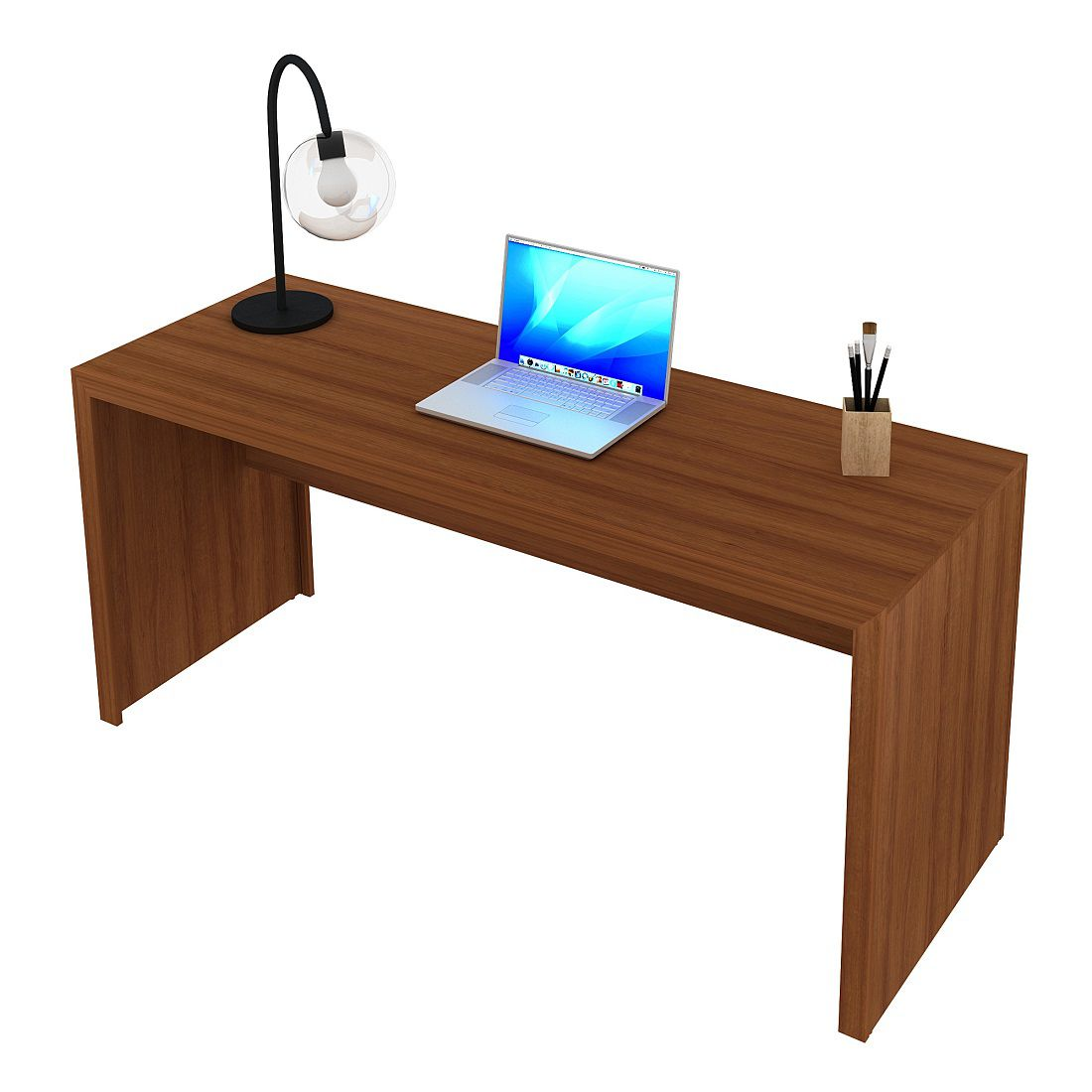 Mesa para Computador Escrivaninha ME4109 Amêndoa Tecno Mobili