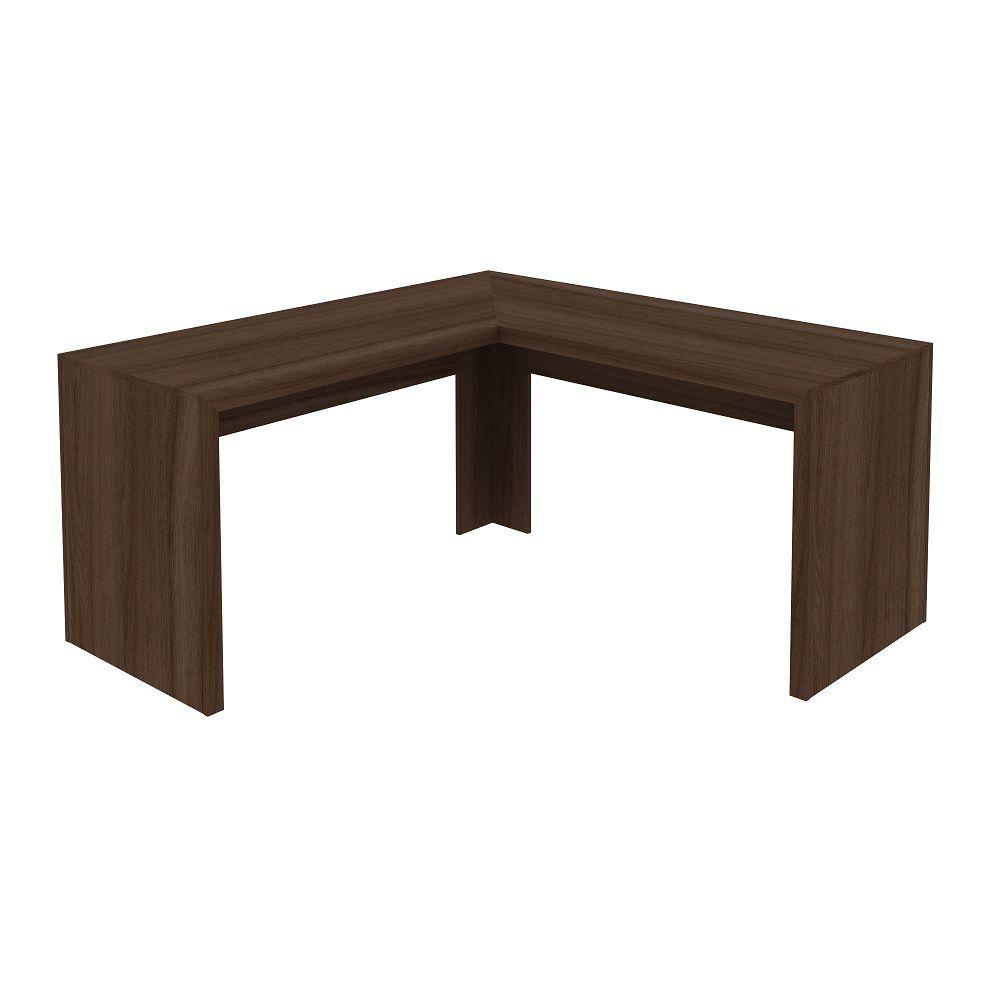 Mesa para Escritório Angular ME4116 Tecno Mobili Carvalho