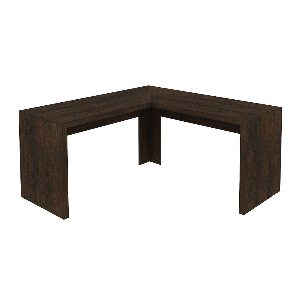 Mesa para Escritório Angular ME4116 Tecno Mobili Rústico