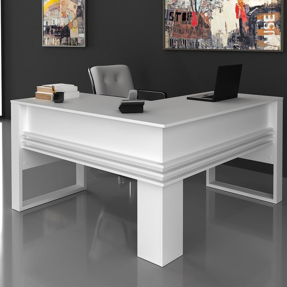 Mesa para Escritório Angular ME4145 Branco Tecno Mobili